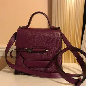 Mackage Keeley Leather Crossbody Bag Burgundy